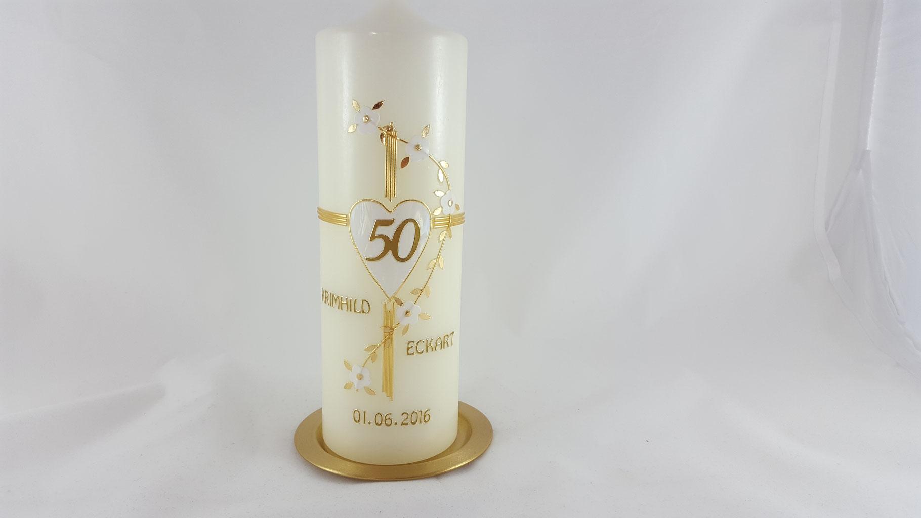 Hochzeitskerze Zur Silberhochzeit Kerzenliebe