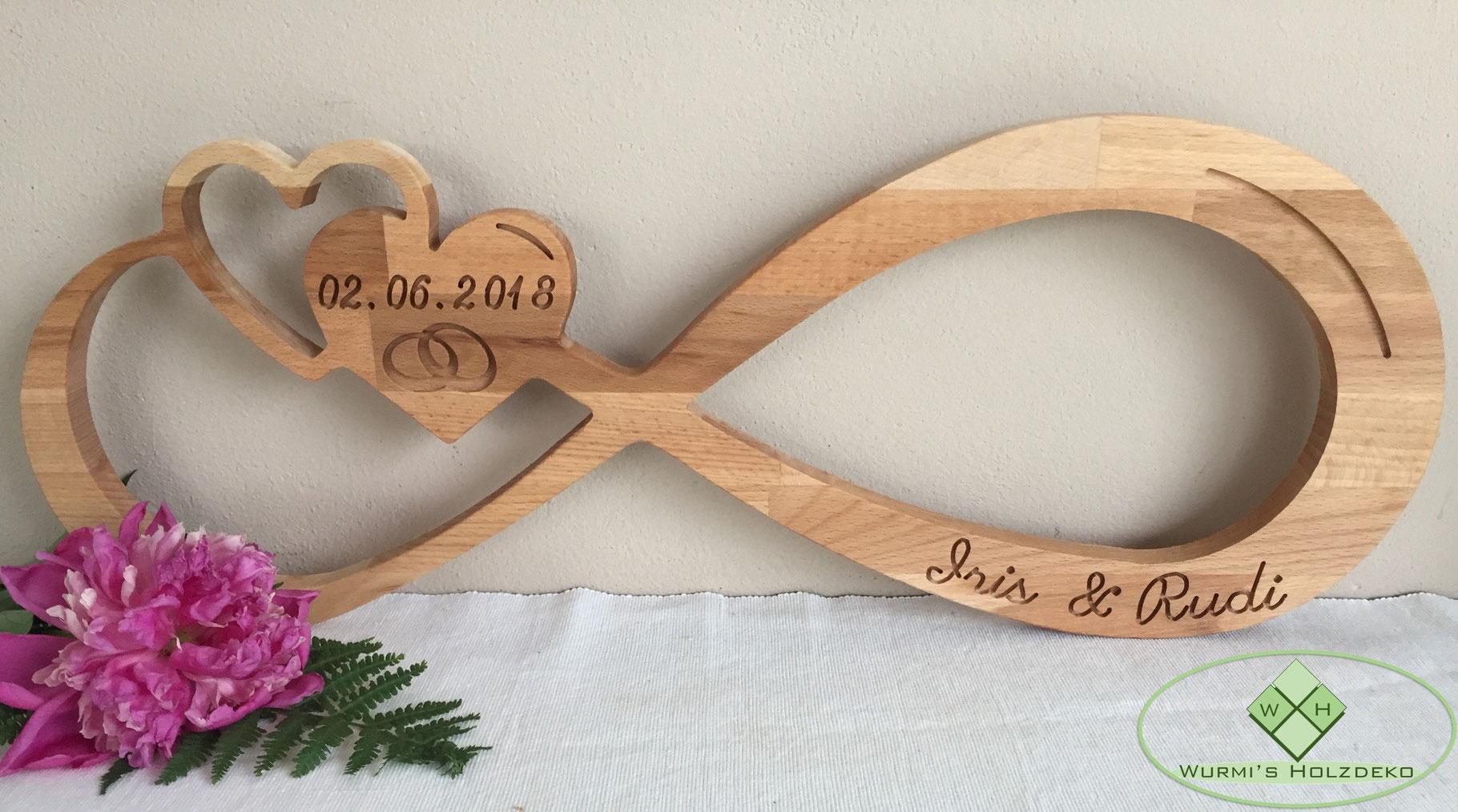 Hochzeitsgeschenk Aus Holz Wurmis Holzdeko Online Shop