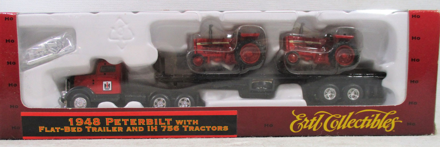 HO//1:87 ERTL T600B w Flat-Bed Trailer and John Deere 8300 Tractors w Free ship!