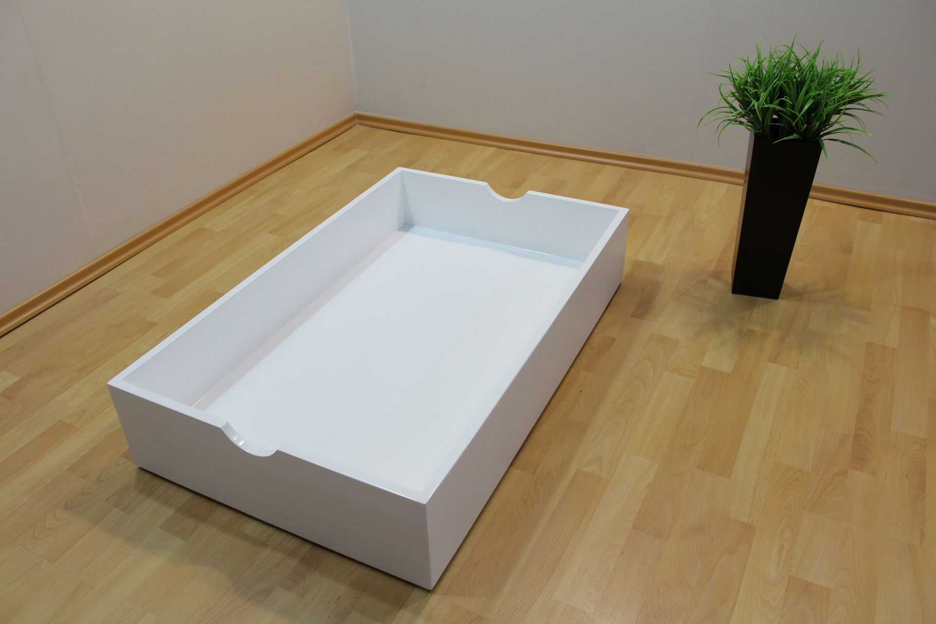 Caj n para bajo cama muebles gm muebles de madera for Base cama individual con cajones