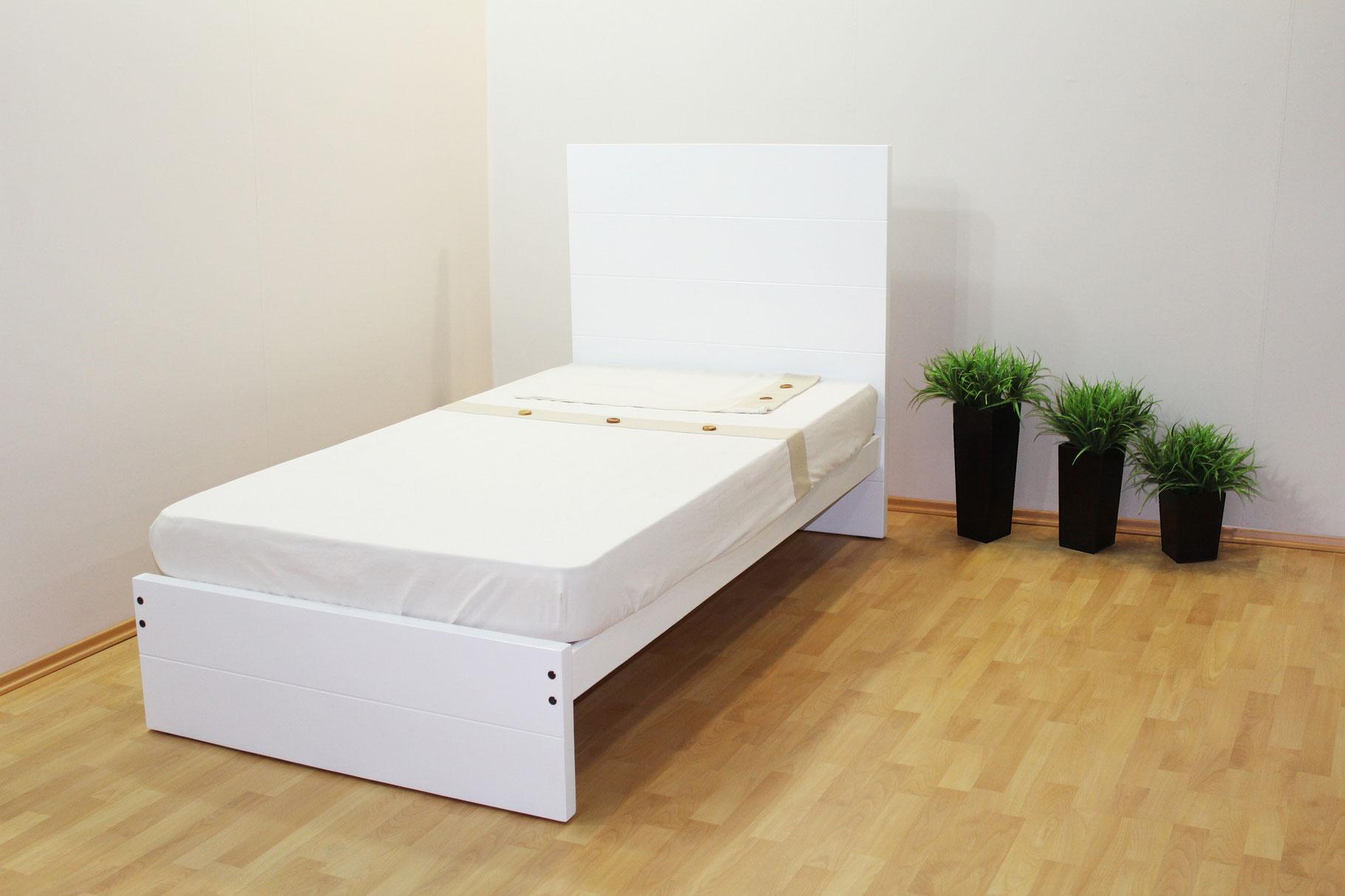 Camas muebles gm muebles de madera for Cama individual con cajones