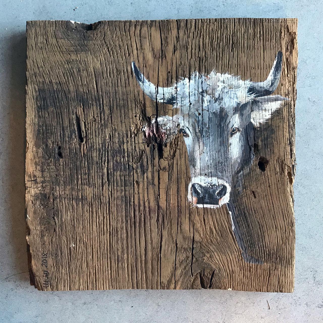 Die Kuh Serie Morlok Kunsthandwerk Acrylmalerei