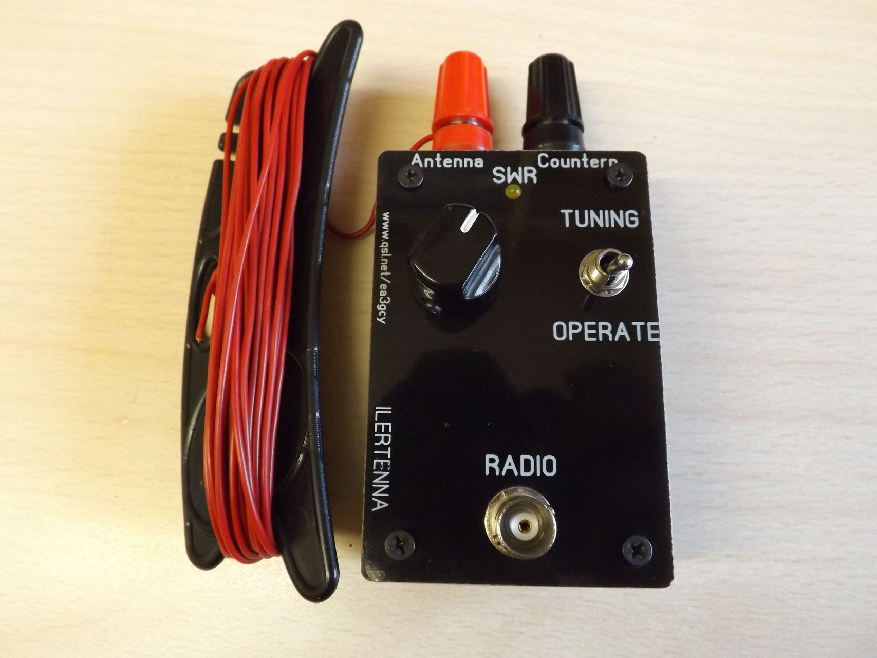 ILERTENNA End-Fed QRP Antenna tuner 40 to 15m