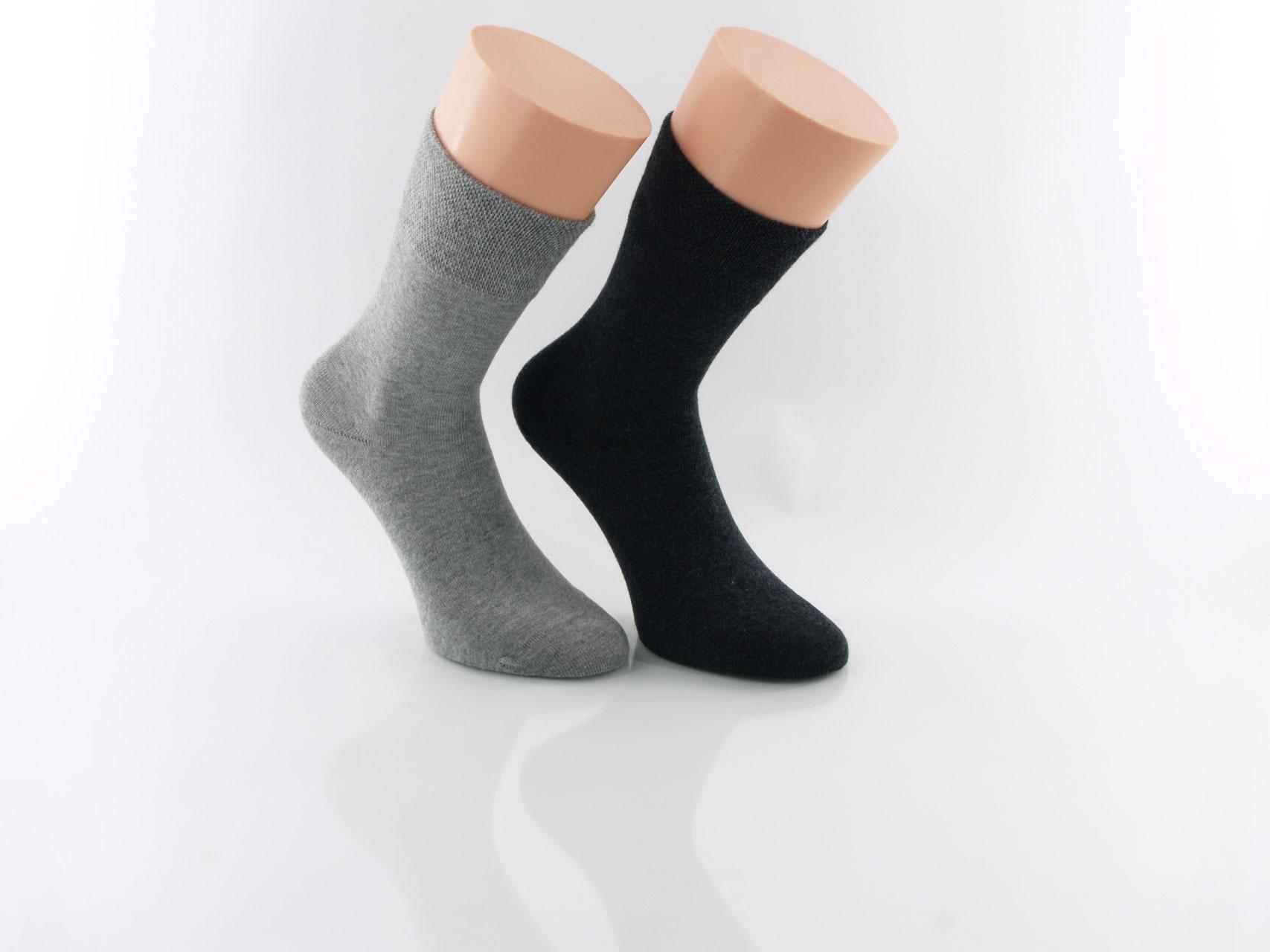 12 Paar Herren Nicht Elastisch 100/% Reine Baumwollsocken Komfort