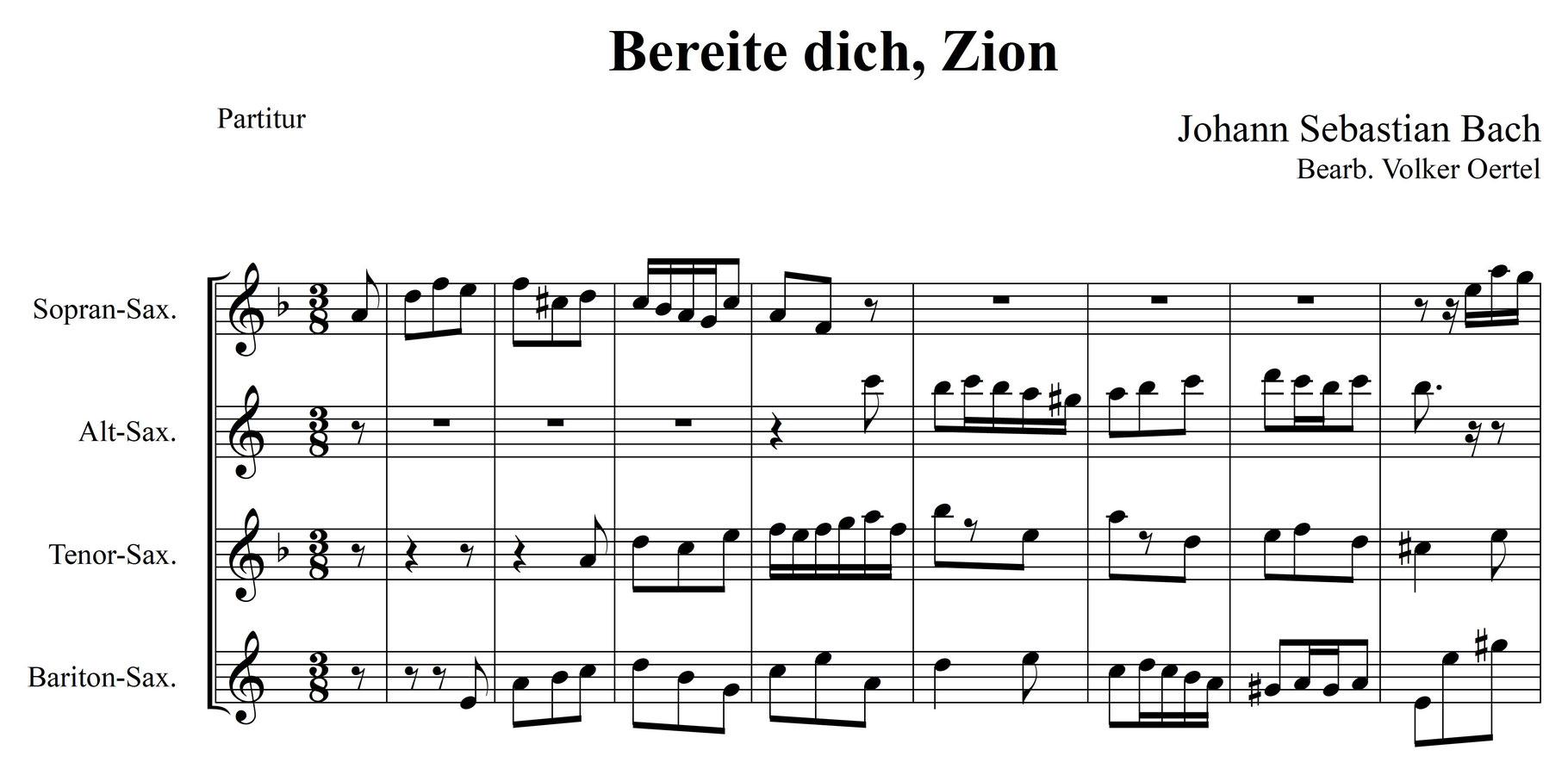 Vollständiger Satz (Weihnachts-Oratorium, BWV 248) von J ...