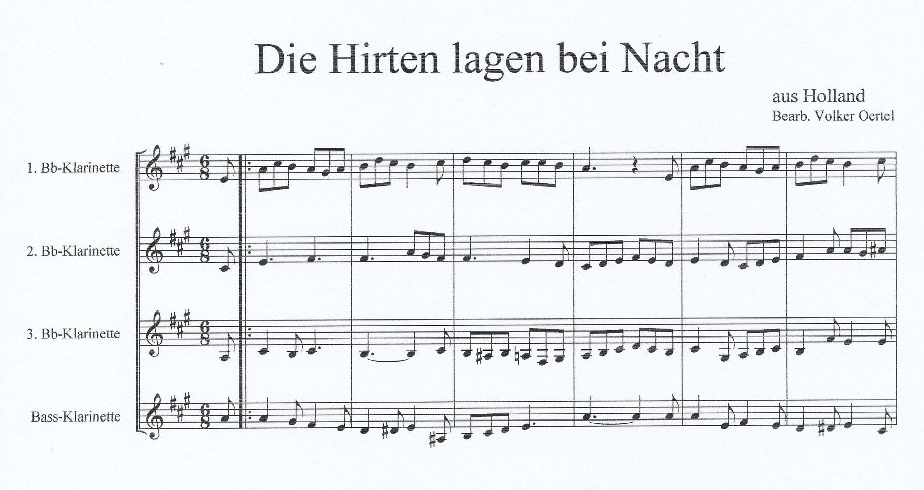 Klarinettenquartett - Edition Volker Oertel - Musik und Fotografie ...