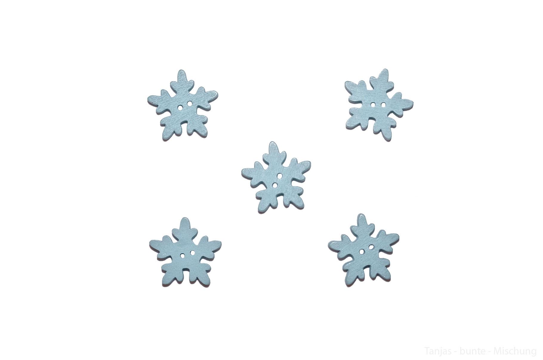 Kinderknöpfe Kinderknopf Holzknöpfe Knöpfe Knopf Schneeflocken Violet 26 mm
