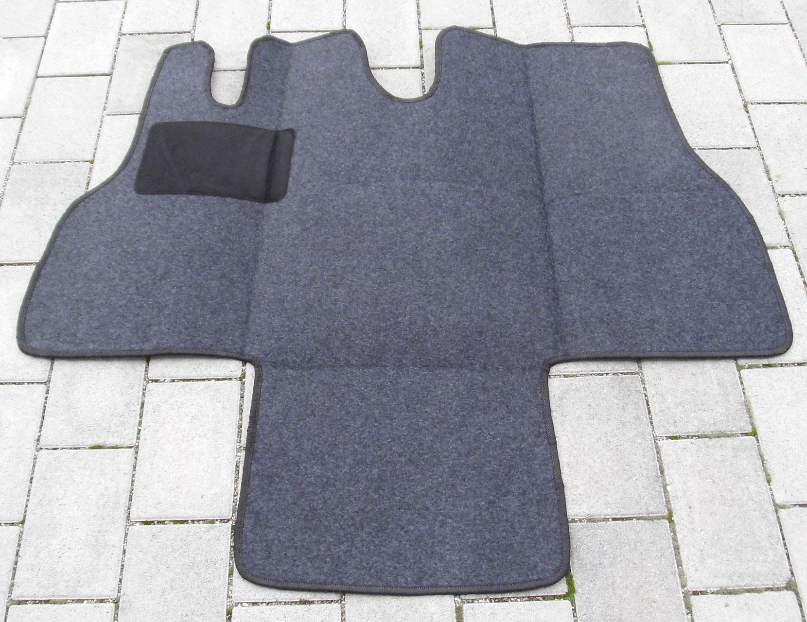 Automatten Fahrerhaus Teppich für Ford Transit 3-Sitzer  Baujahr 2006-2013