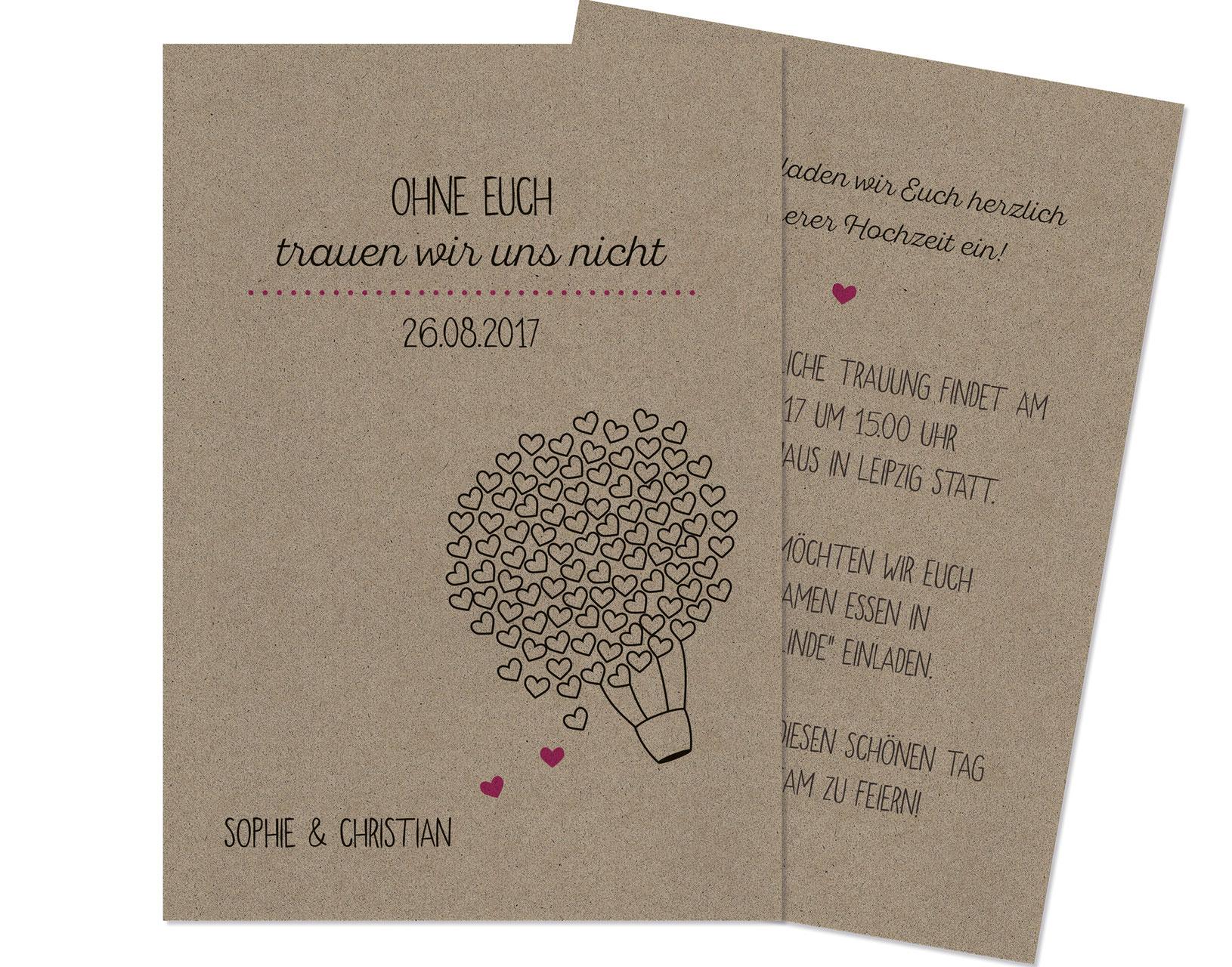 Einladungskarten für Eure Hochzeit besondere Karten für den