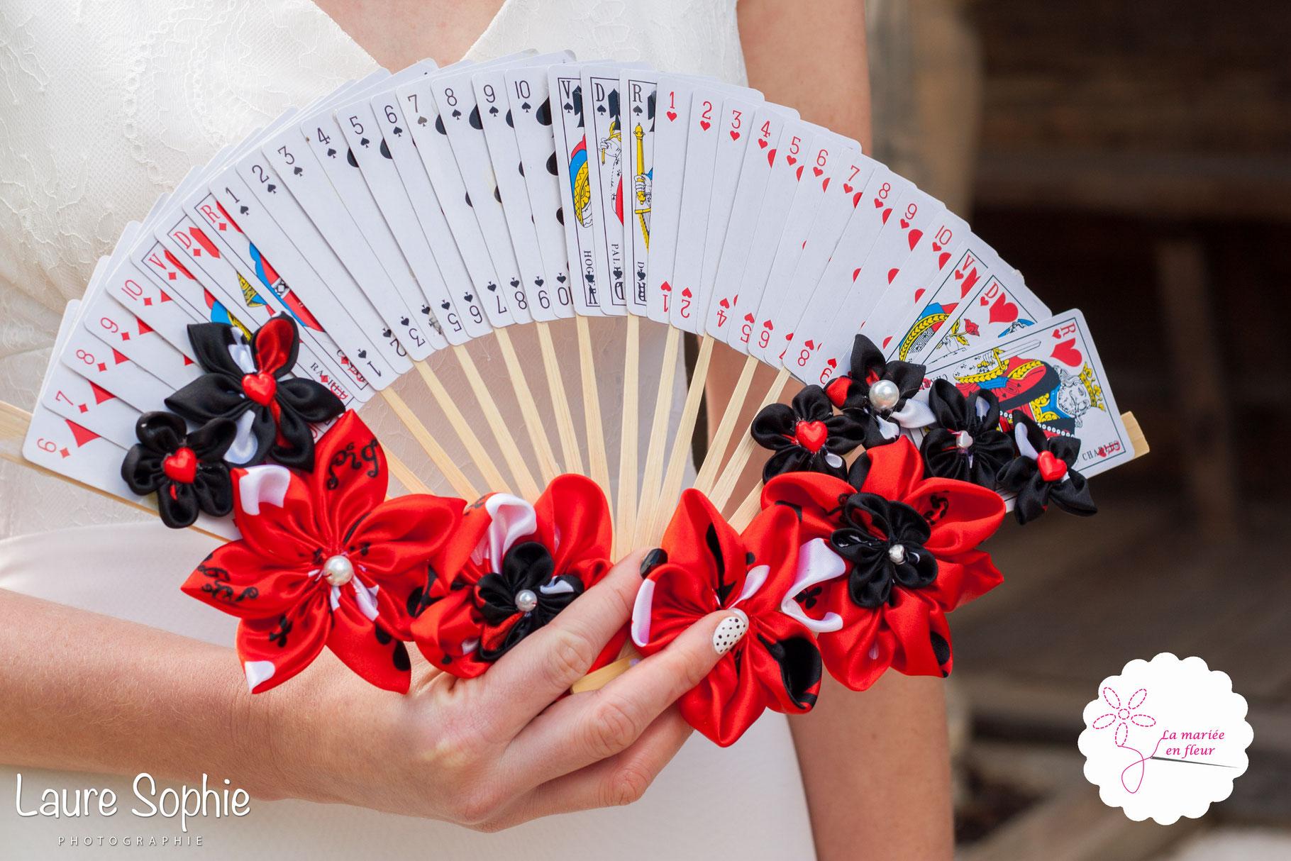 collection reine de cœur. eventail floral, bouquet mariée original