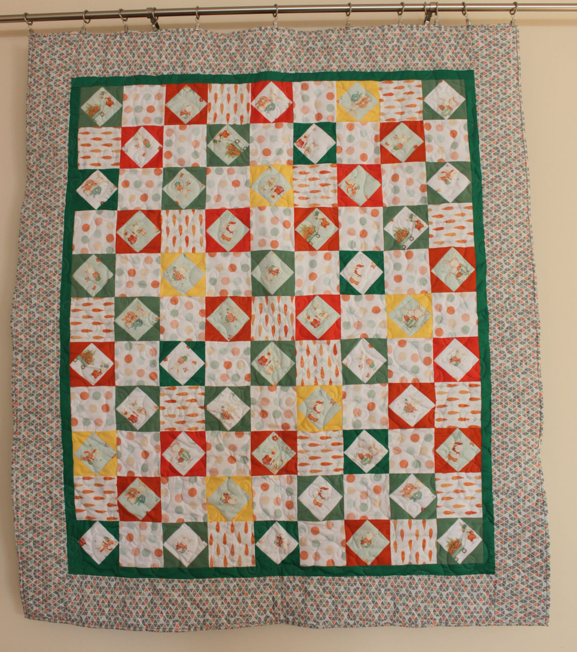 Bunny Tails Kids Quilt Soft Book Silke Touch Quilting