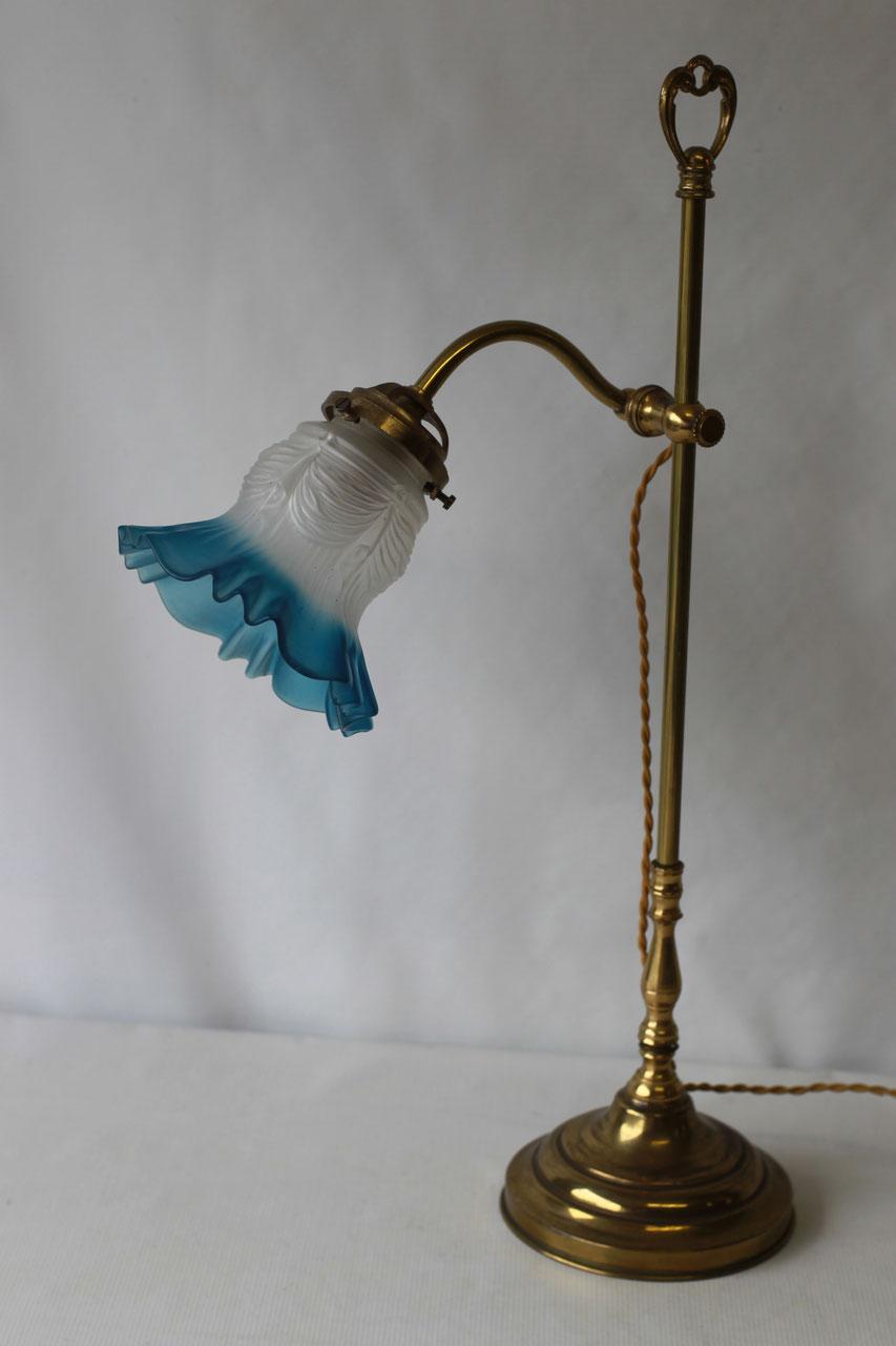 Lampe antiquit s edelweiss - Lampe de bureau ancienne en laiton ...