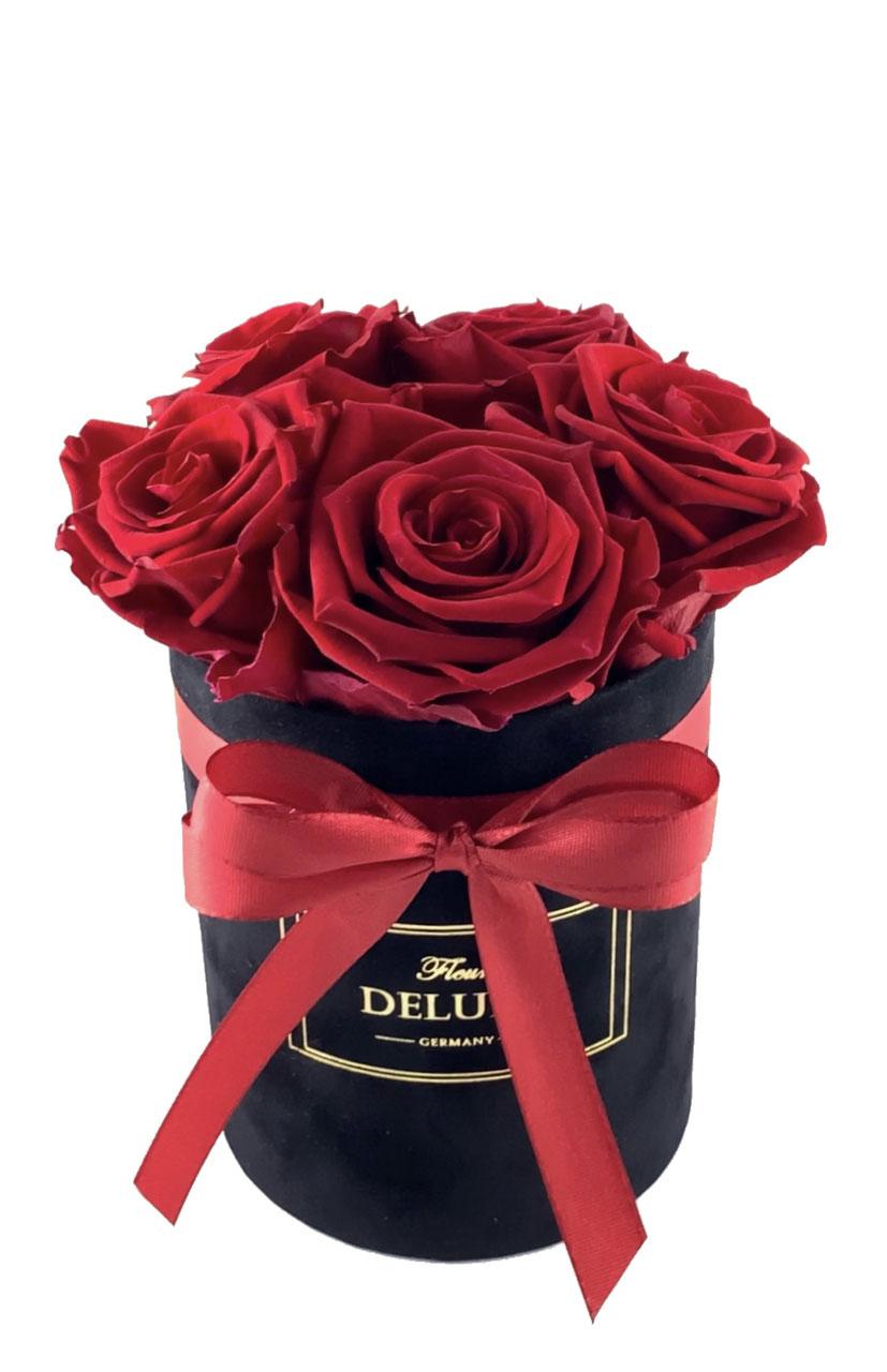 Herz, Blau Rosenbox wei/ß in Herzform mit Infinity Rose haltbar 3 Jahre echte Rose konserviert Blumenbox Geschenk f/ür Frauen zum Muttertag Geburtstag Hochzeit Weihnachten Valentinstag