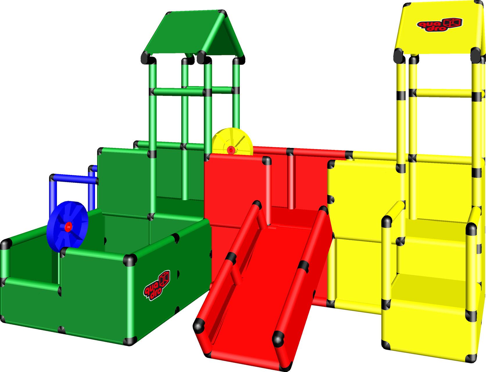 playcenter f r kleinkinder m quadro der grossbaukasten. Black Bedroom Furniture Sets. Home Design Ideas