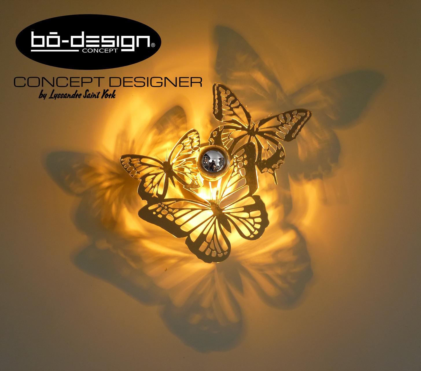 luminaire design papillon effet miroir bodesignconcept. Black Bedroom Furniture Sets. Home Design Ideas