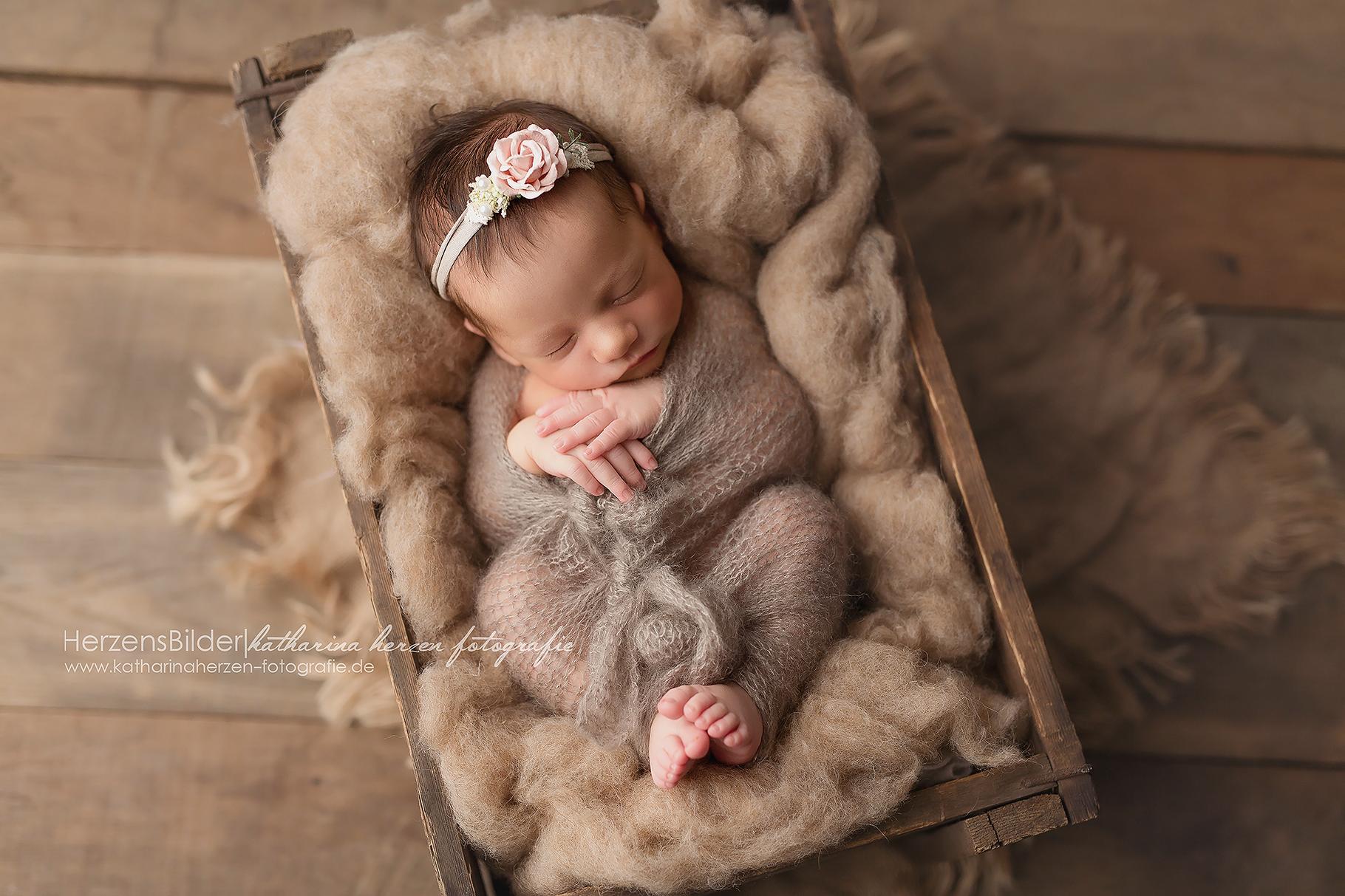 Newborn Haarband Babyfotografie Taufe Shooting Mädchen Baby