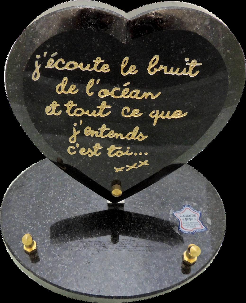 Gravé Ardoise Cœur Memorial grave Marker plaque-Papa Pères Jour Du Souvenir