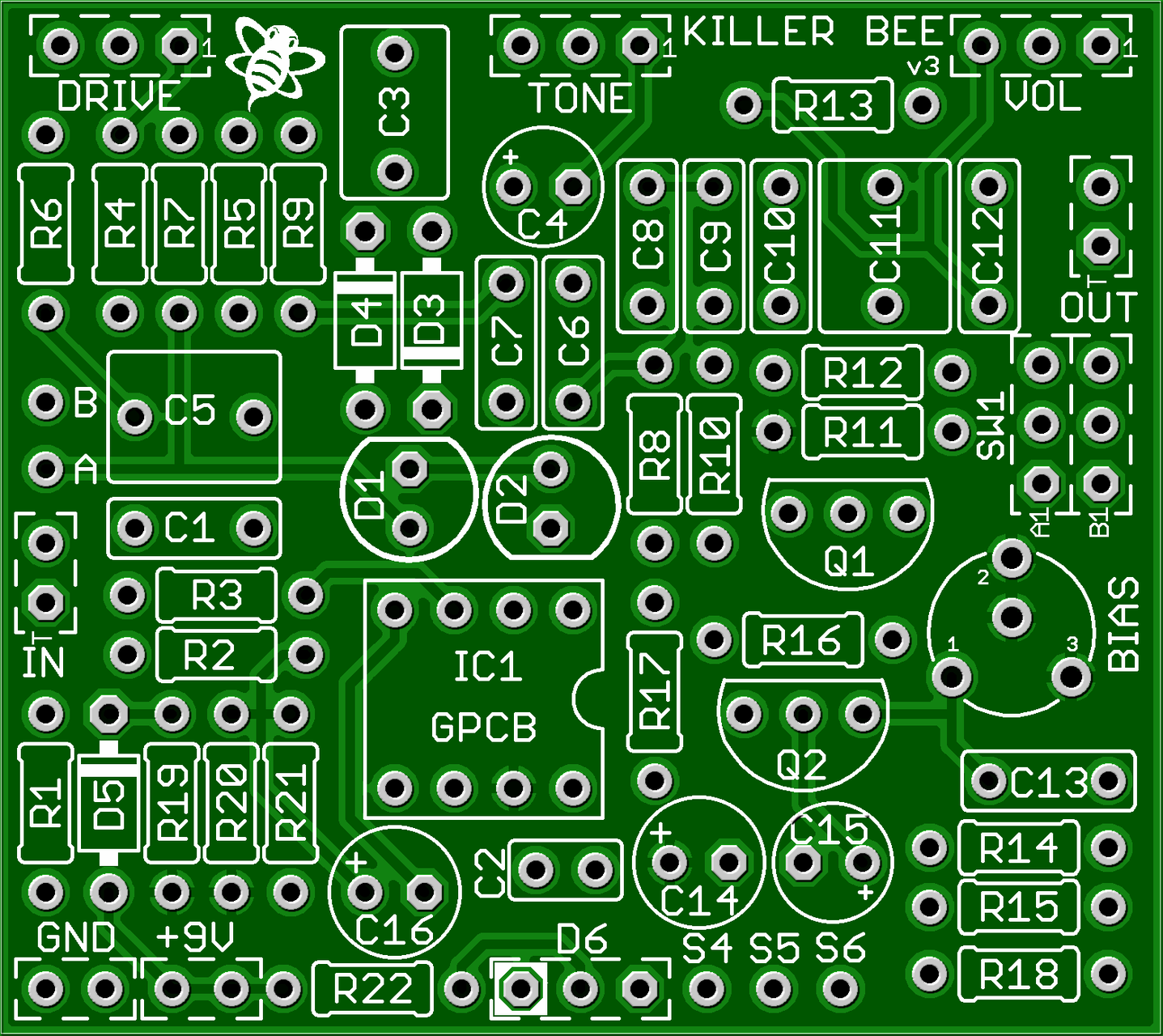 Killer Bee Kit Top Quality Diy Guitar Pedal Kits Doityourself How To Make A Circuit Board Pick Do It