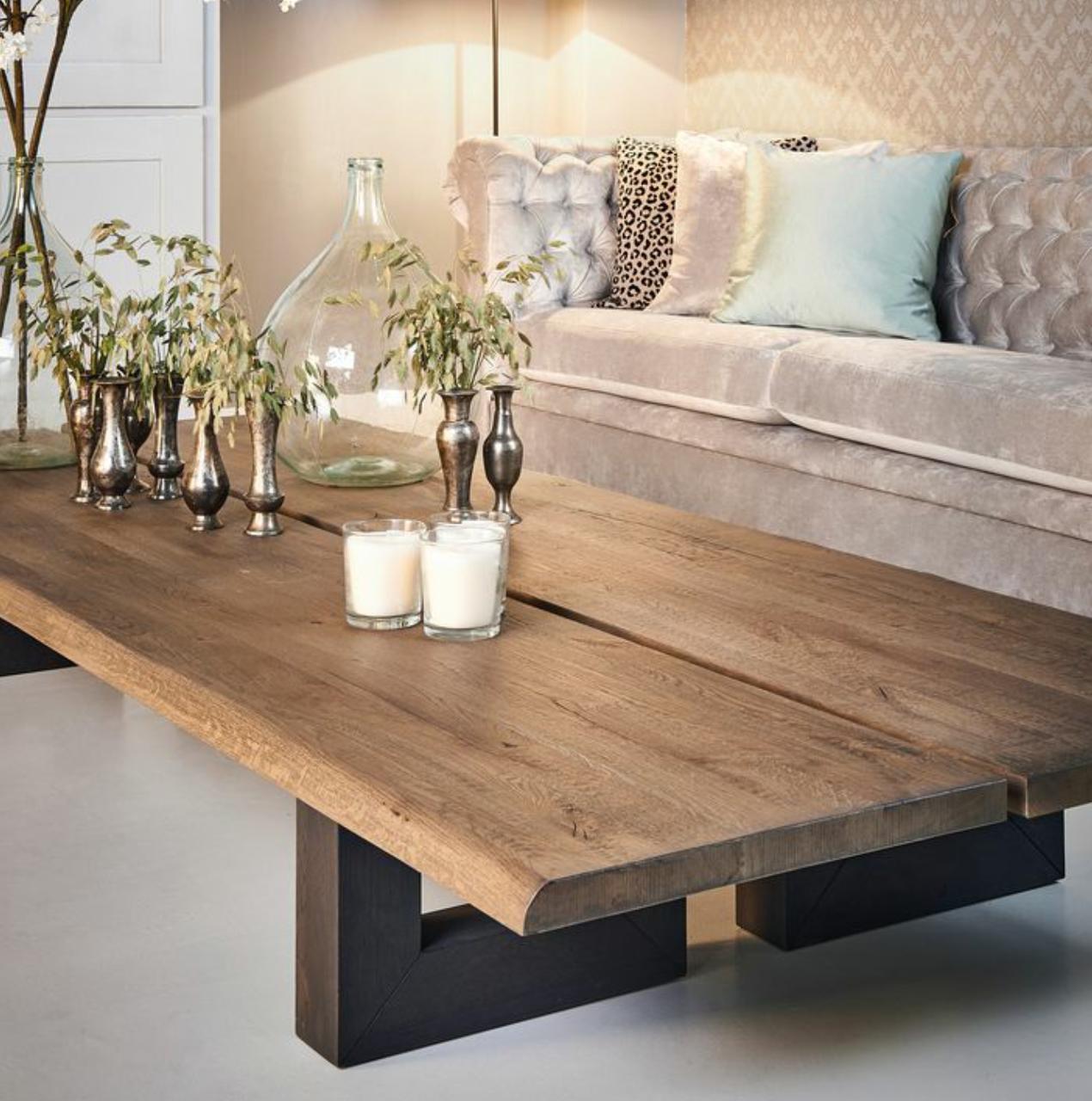 Mesa madera de centro for Mesa de camping de madera