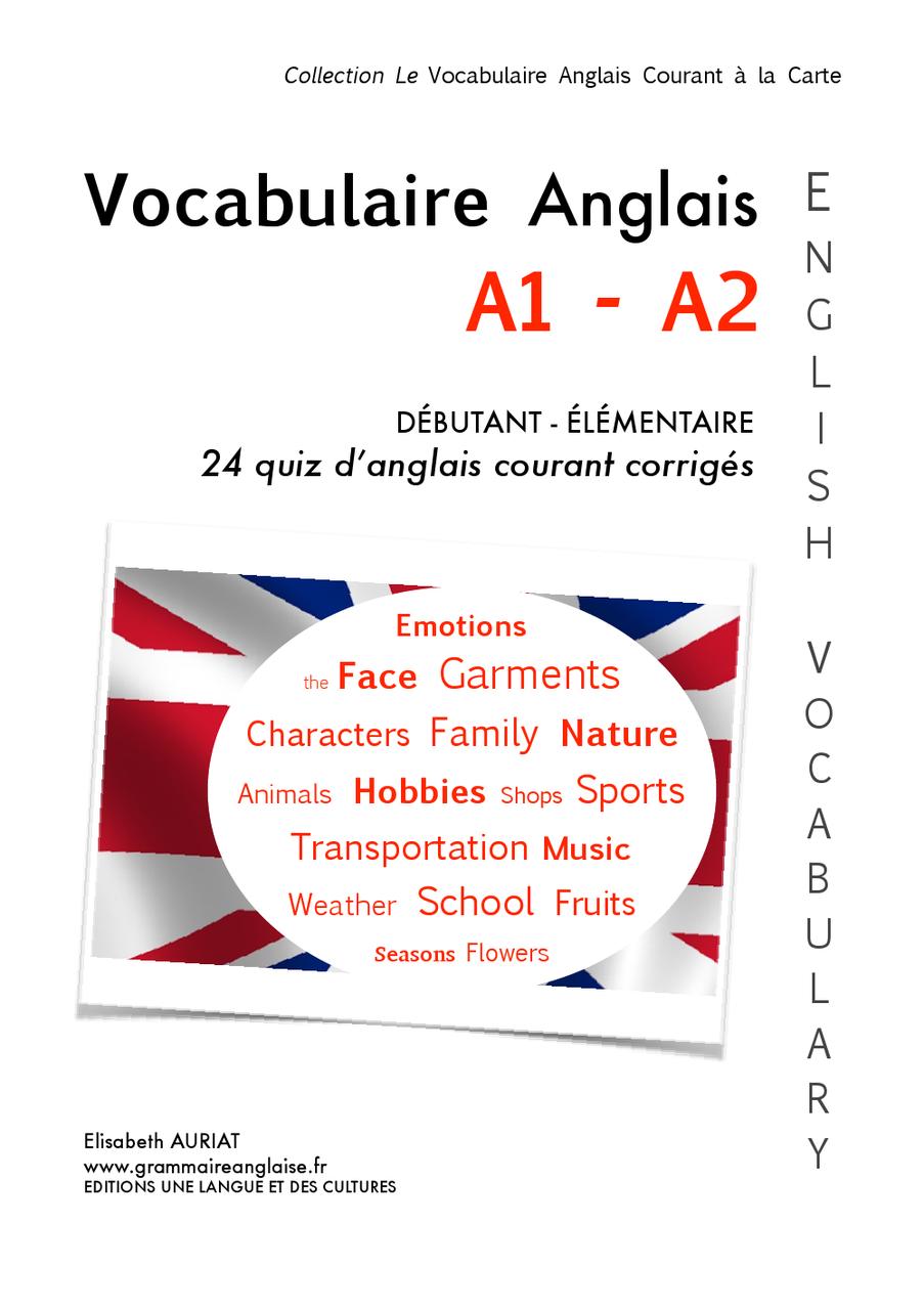 vocabulaire anglais courant a1 - a2