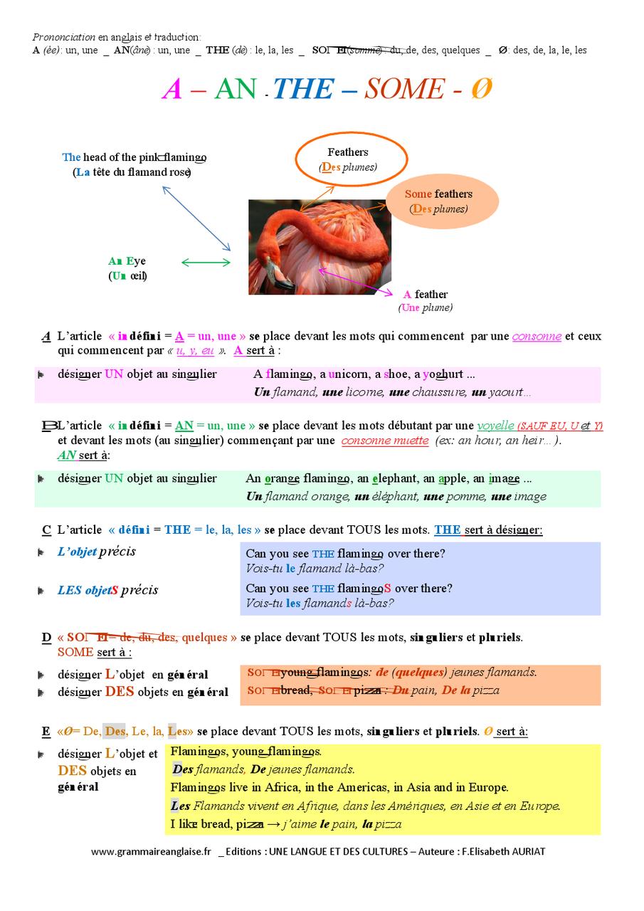 Posters Educatifs Conjugaison Anglaise Grammaire Anglaise Vocabulaire Anglais Tous Niveaux