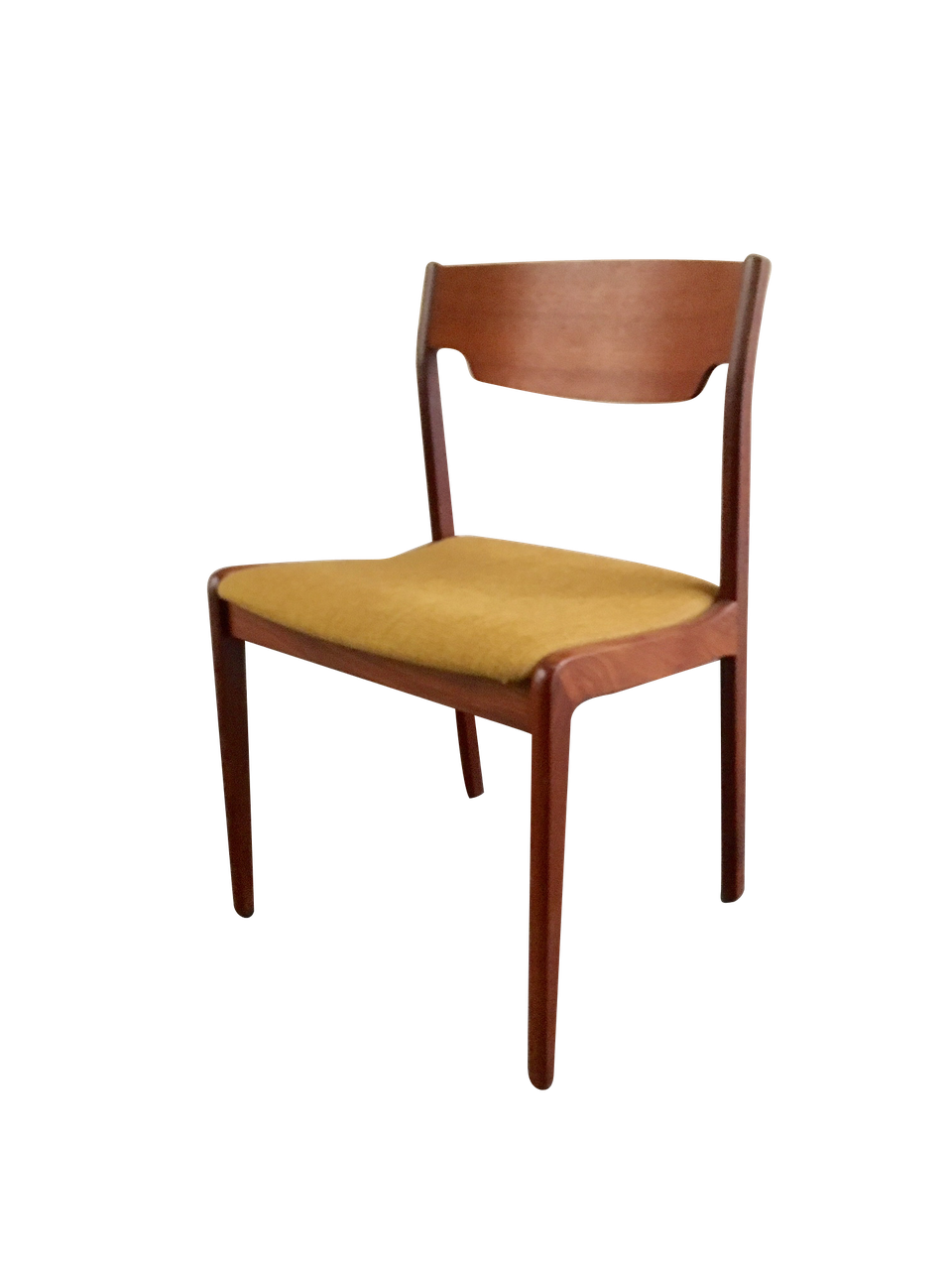 Chaise en tissu moutarde - Site de nordikmarket