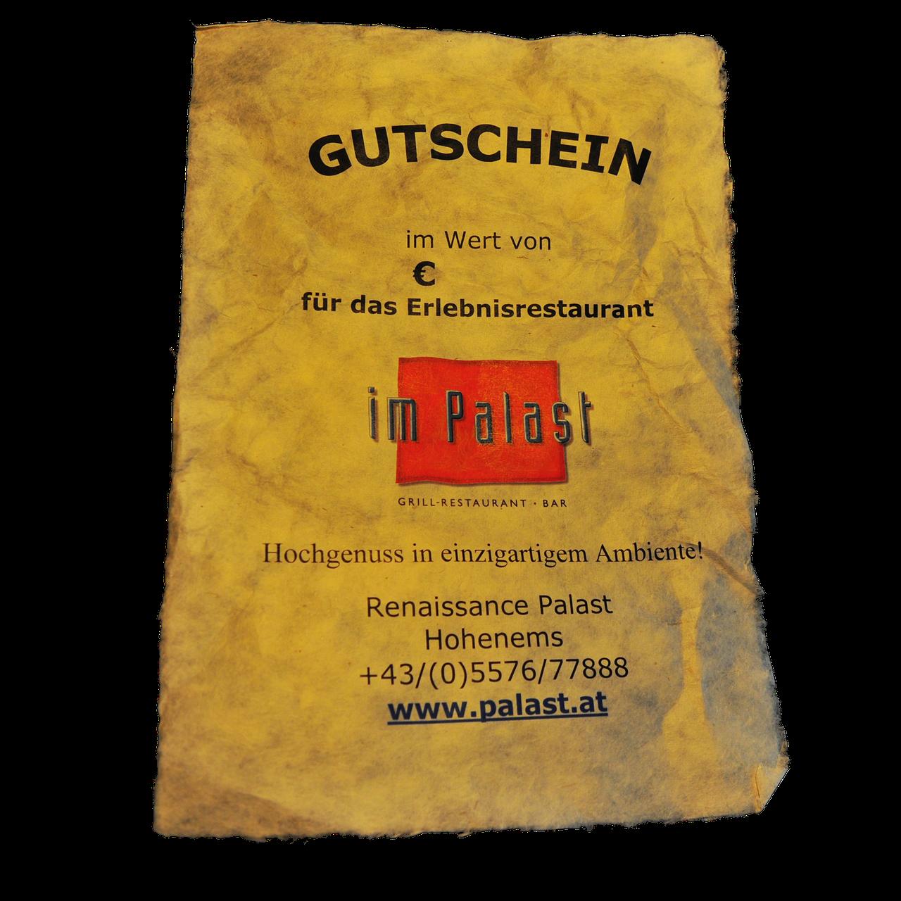 Siegfriedthaler Gutscheine Palast Erlebnis Gastronomie In Hohenems