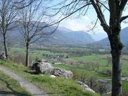 GR 78 - La vallée d'Ossau vue de Bescat