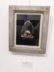 祝福の沈黙 テンペラ、油彩、木、箔 320×280mm 132,000円(税込)