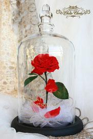 ディズニー 美女と野獣 一輪の薔薇 ガラスドーム クリスマス プレゼント フラワーギフト