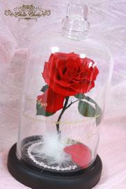 ディズニー 美女と野獣 一輪の薔薇 ガラスドーム プロポーズ フラワーギフト  スワロフスキー