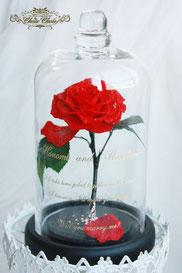 美女と野獣 1輪 薔薇 ガラスドーム  プロポーズ ウェディング スワロフスキー