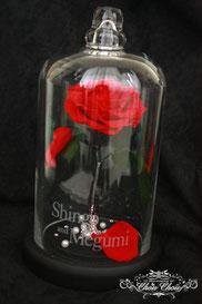 ディズニー 美女と野獣 一輪の薔薇 ガラスドーム 結婚祝い ウェディング プレゼント フラワーギフト