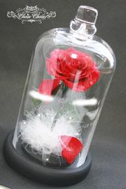 ディズニー 美女と野獣 一輪の薔薇 ガラスドーム 結婚式 ウェルカムアイテム ウェディング フラワーギフト