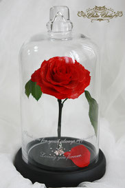 ディズニー 美女と野獣 一輪の薔薇 結婚10周年 結婚記念日 プレゼント フラワーギフト