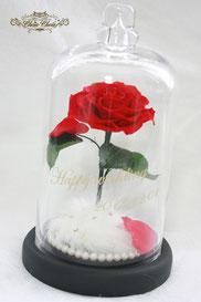 ディズニー 美女と野獣 一輪の薔薇 ガラスドーム  結婚祝い 親族 プレゼント フラワーギフト