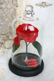 ディズニー 美女と野獣 一輪の薔薇 ガラスドーム プロポーズ フラワーギフト