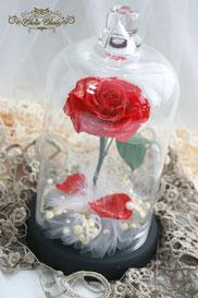ディズニー 美女と野獣 一輪の薔薇 ガラスドーム 誕生日 プレゼント  フラワーギフト