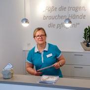 Praxis für Podologie in Billerbeck im Kreis Coesfeld im Münsterland - Portrait der Inhaberin Monika Schlottbom