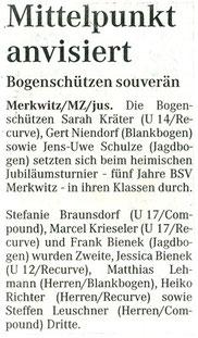 Artikel zum Jubiläumsturnier 2002 in Merkwitz