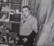 Сакураи Хироси (Эдогава II, 1910-1995) в Мастерской Эдогава (1960-ые гг.).