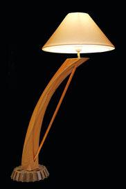 lampe contemporaine bois métal