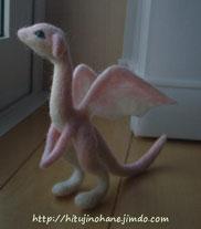 羊毛フェルト 桜ドラゴン制作過程