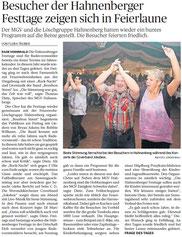 Bergische Morgenpost 12.08.2013