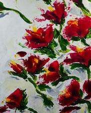 Blüten, Acryl auf Leinwand, JULIA! Neulinger-Kahl