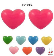 Boucles d'oreilles coeurs acrylique 8 couleurs