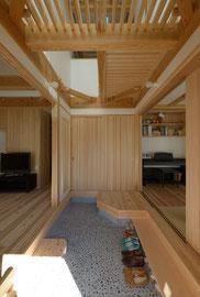 2世帯住宅の玄関土間