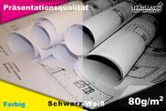 Standard Plots in Farbe und Schwarz weiß mit feinsten Linien und gleichmäßigen Flächen