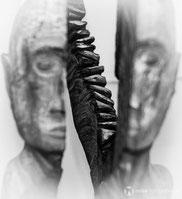 Skulptur dado5 der art der ort im Brühl in Gotha