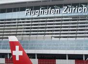 Flughafentransfer mit Taxi Fritschi Rapperswil-Jona, Flughafen Zürich